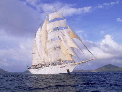Star Clipper, 4-Masted Sailing Ship-Barry Winiker-Photographic Print