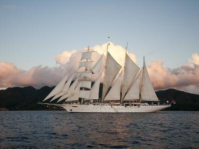 Star Clipper Sailing Cruise Ship, Dominica, West Indies, Caribbean, Central America-Sergio Pitamitz-Photographic Print