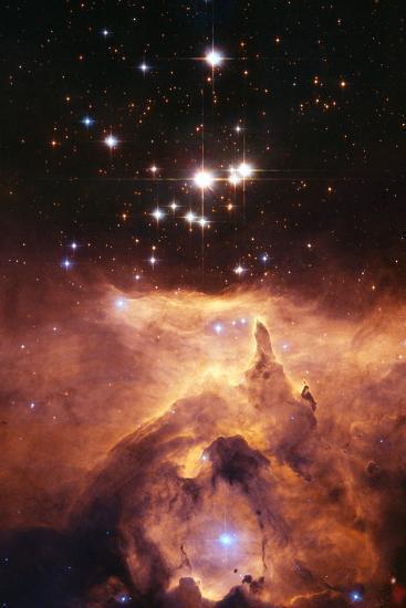 Star Cluster Pismis 24 Above NGC 6357-J. Maiz-Photographic Print