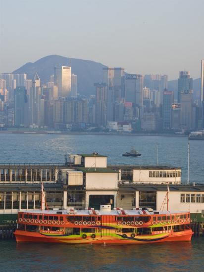 Star Ferry Pier, Kowloon, Hong Kong, China-Charles Bowman-Photographic Print