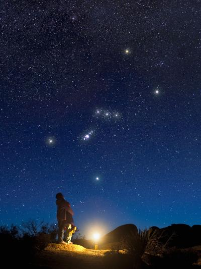 Star Gazers Observing Orion-David Nunuk-Photographic Print