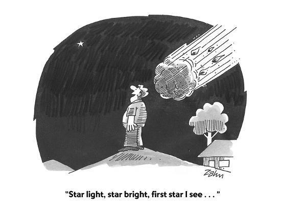 """Star light, star bright, first star I see . . . "" - Cartoon-Bob Zahn-Premium Giclee Print"