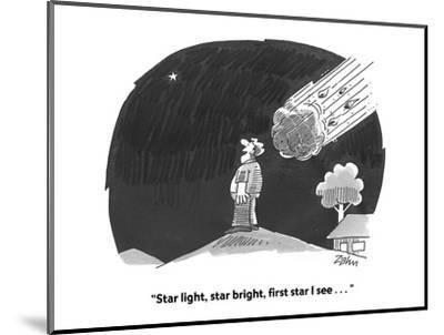 """Star light, star bright, first star I see . . . "" - Cartoon-Bob Zahn-Mounted Premium Giclee Print"