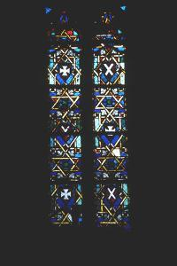 Star of David in Stained Glass Church Window, Barcelona, Spain