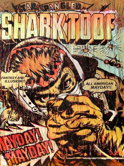 Star Spangled Shark Toof-Shark Toof-Art Print