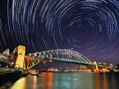 Star-Trail over Sydney-AtomicZen-Photographic Print
