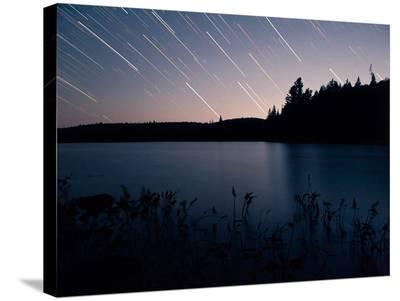 Star Trails at Head Lake, Algonquin Park Canada-Byron Yu-Stretched Canvas Print