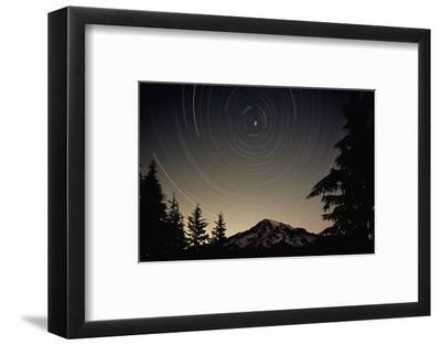 Star Trails Circle Above Mount Rainier