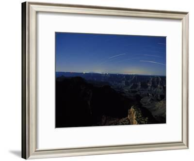 Star Trails Streak the Sky in a Long Exposure over the Grand Canyon-Michael Nichols-Framed Photographic Print