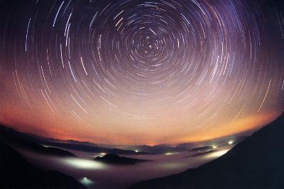 Star Trails-Laurent Laveder-Photographic Print