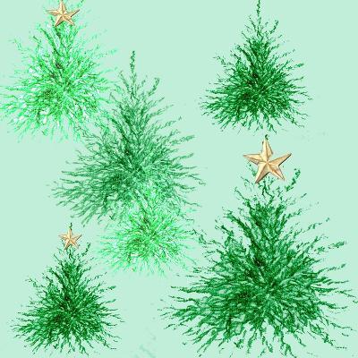 Star Trees-Anna Platts-Giclee Print