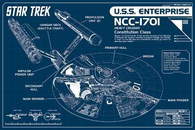 Star Trek Enterprise Blueprint--Poster