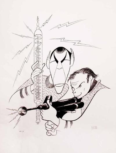 Star Trek: Spock and Captain Kirk-Al Hirschfeld-Premium Edition