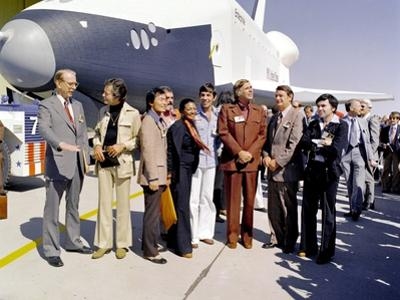 Star Trek Television Cast Members at the Roll Out of the Space Shuttle Prototype Enterprise