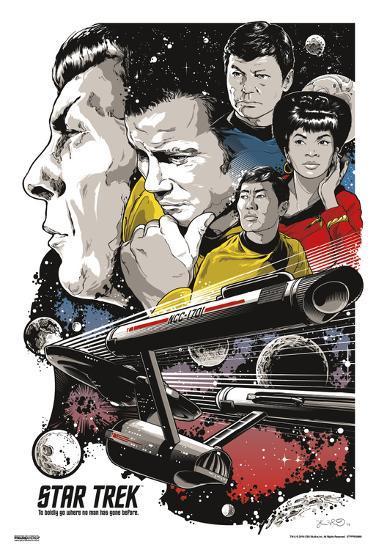 Star Trek - To Boldly Go--Art Print