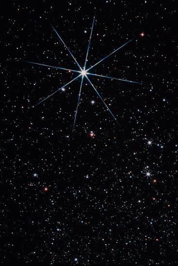 Star Vega In the Constellation of Lyra-John Sanford-Photographic Print