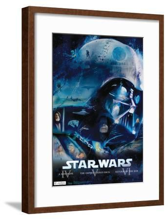 Star Wars - Blu Ray Original Trilogy Movie Poster