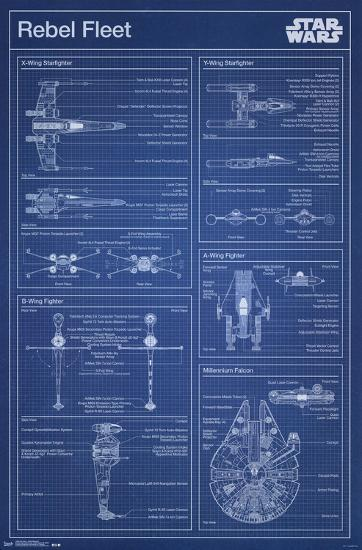 New Star Wars- Rebel Blueprint Poster by | Art.com #RC94