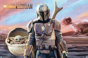 STAR WARS: THE MANDALORIAN - MANDO AND THE CHILD WITH SHIP