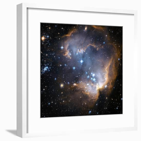 Starbirth Region NGC 602-Hubble Heritage-Framed Premium Photographic Print