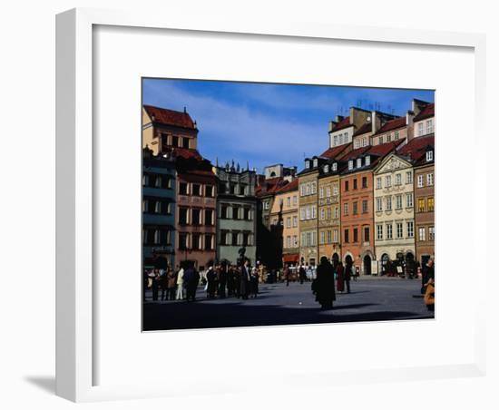 Stare Miasto, Old Town Square, Warsaw, Poland-Izzet Keribar-Framed Photographic Print