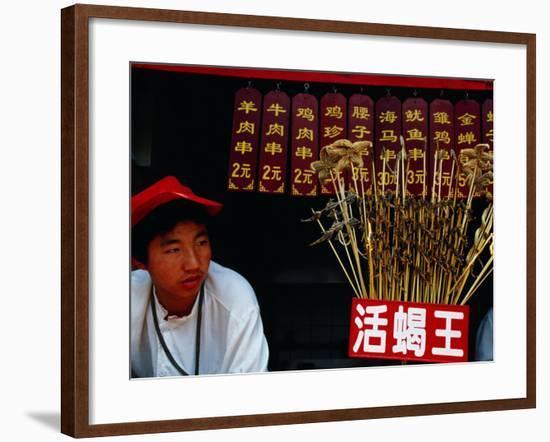 Starfish, Scorpions and Other Snacks for Sale, Wangfujing Dajie, Beijing, China-Krzysztof Dydynski-Framed Photographic Print