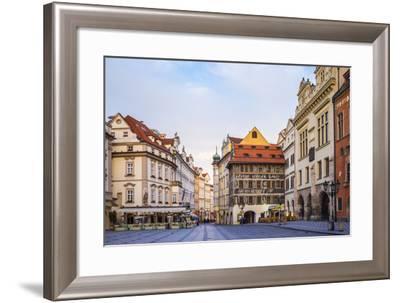 Staromestske namesti (Old Town Square) at dawn, Stare Meso (Old Town), Prague, Czech Republic-Jason Langley-Framed Photographic Print