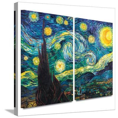 Starry Night 2 piece gallery-wrapped canvas-Vincent van Gogh-Gallery Wrapped Canvas Set