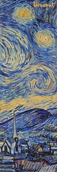 Starry Night, c.1889 (detail)-Vincent van Gogh-Poster