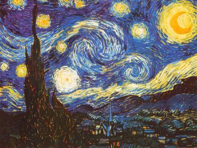 Starry Night, c.1889-Vincent van Gogh-Art Print