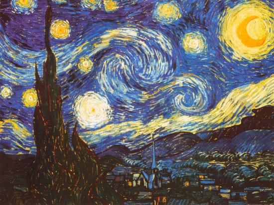 Starry Night, c.1889-Vincent van Gogh-Art Print