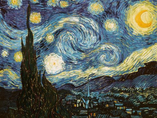 Starry Night, c.1889-Vincent van Gogh-Premium Giclee Print