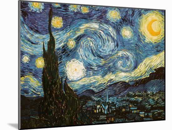 Starry Night, c.1889-Vincent van Gogh-Mounted Giclee Print