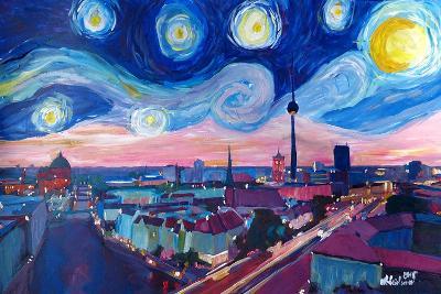 Starry Night in Berlin - Van Gogh Inspired-Markus Bleichner-Art Print
