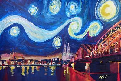 Starry Night in Cologne - Van Gogh Inspirations-Markus Bleichner-Art Print