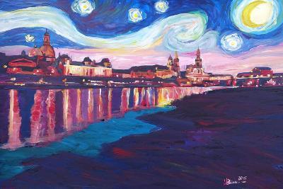Starry Night in Dresden - Van Gogh Inspirations-Markus Bleichner-Art Print