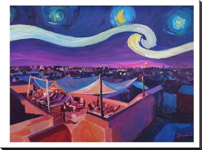 Starry Night In Marrakech-M Bleichner-Stretched Canvas Print
