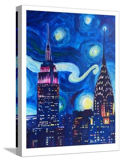 Starry Night In New York-M Bleichner-Stretched Canvas Print