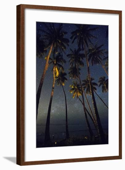 Starry Night in the Kapuaiwa Coconut Grove, Molokai-Jonathan Kingston-Framed Photographic Print