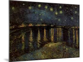Starry Night over the Rhone, c.1888-Vincent van Gogh-Mounted Art Print