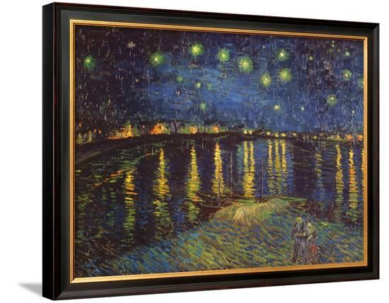 Starry Night over the Rhone, c.1888 Framed Canvas Print by ...
