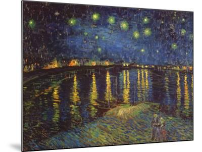 Starry Night over the Rhone, c.1888-Vincent van Gogh-Mounted Print