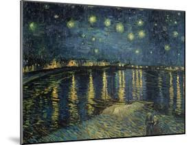 Starry Night over the Rhone, c.1888-Vincent van Gogh-Mounted Giclee Print