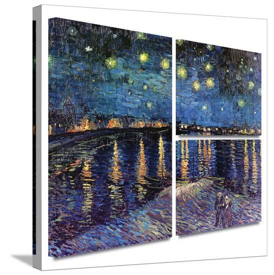 Starry Night over the Rhone Gallery-Wrapped Canvas Gallery ...