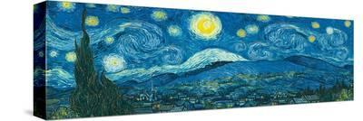 Starry Night Panorama-Vincent van Gogh-Stretched Canvas Print