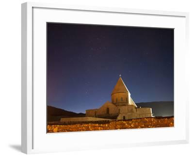 Starry Night Sky Above Saint Thaddeus Monastery, Iran-Stocktrek Images-Framed Photographic Print