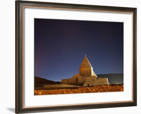 Starry Night Sky Above Saint Thaddeus Monastery, Iran-Stocktrek Images-Framed Photographic Print