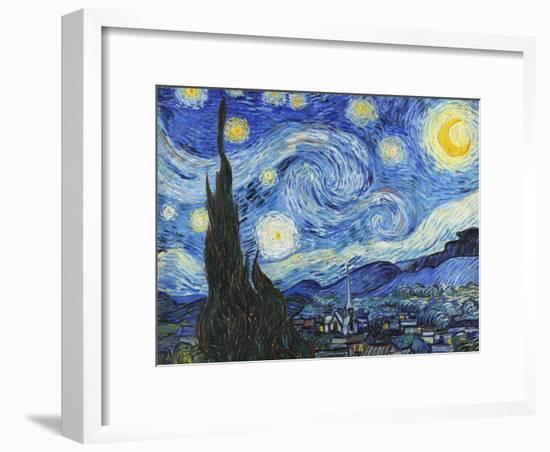 Starry Night-Vincent van Gogh-Framed Art Print