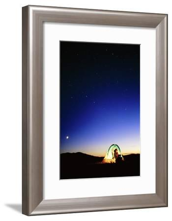 Starry Sky And Stargazer-David Nunuk-Framed Photographic Print