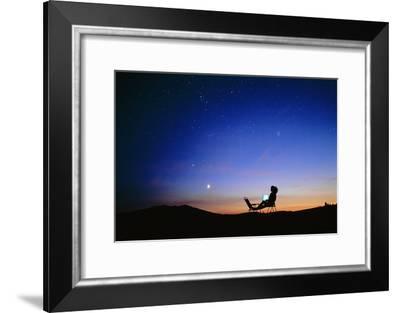 Starry Sky And Stargazer-David Nunuk-Framed Photographic Print